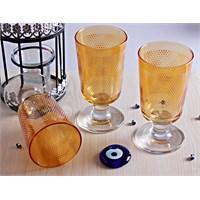 Mos'ev Sarı Yıldızlı Ayaklı 6'Lı Meşrubat Bardağı