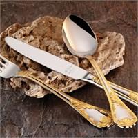 Aryıldız Pera Altın Antic Seri 89 Parça Çatal Kaşık Bıçak