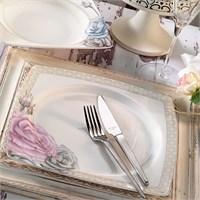 Aryıldız Prestige Porselen 70009 29 Parça Kare Yemek Takımı