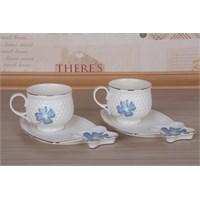 LoveQ Porselen Çift Kişilik Kahve Fincanı 147277M