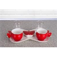 LoveQ Renks Serisi Çift Kişilik İkramlık Kahve Keyif Fincanı 144755K