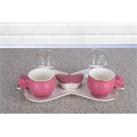 LoveQ Renks Serisi Çift Kişilik İkramlık Kahve Keyif Fincanı 144757P