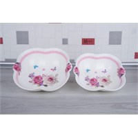 LoveQ Bahar Serisi Porselen 2'Li Kase