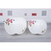 LoveQ Gül Serisi Lux Porselen Elma 2'Li Salata Kasesi 147297