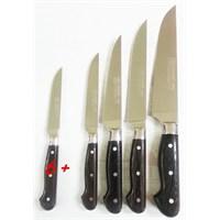 Sürmene Sürbısa 61500 Naturel Ahşap Standlı Yöresel Model Bıçak Seti 10 Lu