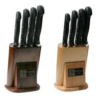 Sürmene Sürbısa 61502 Naturel Ahşap Standlı Mutfak Bıçak Seti 4 Lü