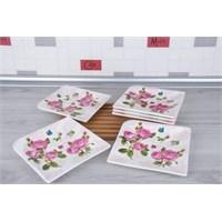 LoveQ Gül Serisi Lux Porselen 6'Lı Pasta Tabağı 147304