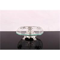 LoveQ Lux Gümüş Cam Ayaklı Meyvelik 143830