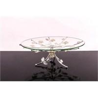 LoveQ Lux Gümüş Cam Ayaklı Meyvelik 146935