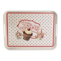 LoveQ 26X33 Derin Kaymaz Tepsi Red Cupcake