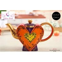 LoveQ Porselen Kalp Demlik 850Ml