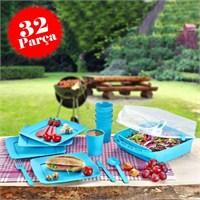 Hepsi Dahice 32 Parça 6 Kişilik Yıkanabilir Piknik Seti