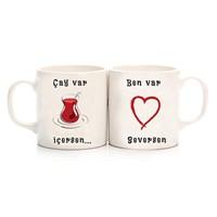 Köstebek Çay Var İçersen ... Ben Var Seversen Sevgili Kupa