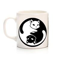 Köstebek Ying Yang Cat Kupa