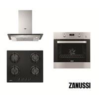 Zanussi Lino Italyan 3'lü Ankastre Set (ZOB65632XA Ankastre Fırın + ZGO65414BA Ankastre Ocak + ZHC62341XA Dikdörtgen Davlumbaz)