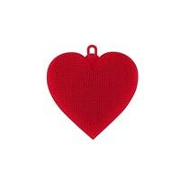 Tantitoni Silikon Kırmızı Kalp Sekilli Sebze Fırçası