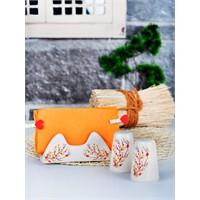 Keramika Set Tuzluk Biberlik Assos Peçetelik Platin 3 Parça Mat Transparan Beyaz 021 Sonbahar Tomurcuk A