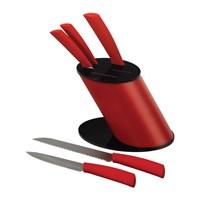 Emsan Trendy 6 Parça Bıçak Seti Kırmızı