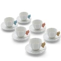Emsan Colore 6'Lı Kahve Fincan Seti