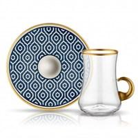 Koleksiyon Dervish Kulplu Marrakesh Çay Seti 6Lı Antrasit
