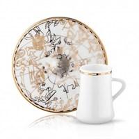 Koleksiyon Sufi İrismano Cafe Lungo Seti 6Lı Altın
