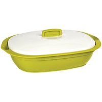 Bager Bellisima Plastik Oval Tencere - 2000 Ml - Yeşil