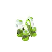 Miradan Qella Yağlık Sirkelik Ve Tuzluk Seti - Yeşil