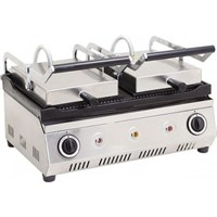 Vtn 20 Dilim Çift Kapaklı Oluklu Tost Makinası Elektrikli