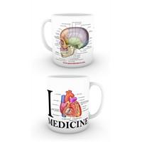 Love Medicine Yan Kafatası Kupa