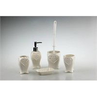 New Bath Porselen Banyo Seti 5 Parça Kalp