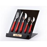 Lucky Art Pure Kırmızı 30 Parça Çatal Kaşık Bıçak Takımı - Lyrg 014