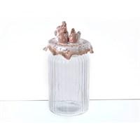 Lucky Art Horozlu Latte Büyük Cam Kavanoz - Lymy 005