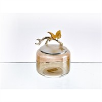 Lucky Art Gold Amber Kelebekli Kavanoz - Cd 020