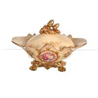 Lucky Art Krem Gold Kapaklı Şekerlik - Fx 044