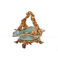 Lucky Art Turkuaz Gold Kulplu Şekerlik - Fx 027