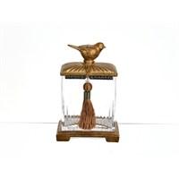 Lucky Art Bronz Kuş Kapaklı Kavanoz - Pw 019