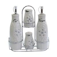 Royal Windsor Porselen Standlı Taşlı Yağlık/Sirkelik Takımı