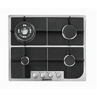 Hoover HGH 64 SQDX 4 Gözü Gazlı Siyah Cam Ankastre Ocak