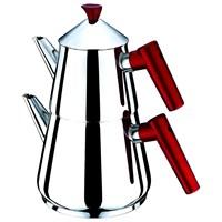 Sofram Nova Çelik Çaydanlık Kırmızı-Büyük