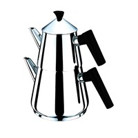Sofram Nova Çelik Çaydanlık Siyah-Orta
