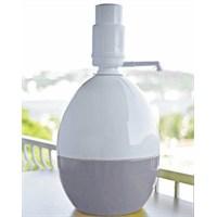 Dami Pompa Basmalı Damacana Kılıfı Üst Düz Beyaz Alt Gri + Özel Beyaz Pompa