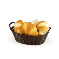 Bora Hasır Desenli Ekmek Sepeti Oval 24 Cm - Bo 663