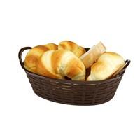 Bora Hasır Desenli Ekmek Sepeti Oval 28 Cm - Bo 665