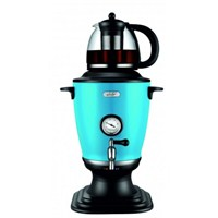Valy V-JK-T19S Termometreli Cam Çaydanlıklı Semaver