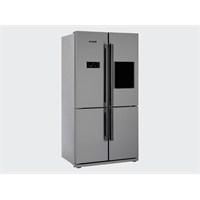 Arçelik 8845 SBS NY A+ 610 Lt Gardrop Tipi Inox NoFrost Buzdolabı