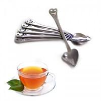 Bluzen Kalp Tasarımlı Gülen Yüz Çay Kaşıkları 6 Adet