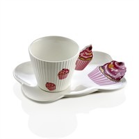 Noble Life Cupcake 6Lı Çay Fincan Seti - 22616