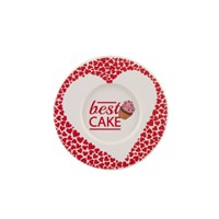 Tantitoni Melamin Heart Cake Desenli Çay Tabağı