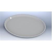 İpekyolu Mutfak Kırılmaz Teşhir Tepsisi 35 Cm Beyaz