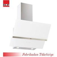 ICF 7035 Zm Beyaz Dokunmatik Cam Davlumbaz Kumanda